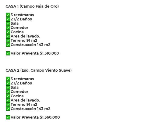 Carrusel de -PREVENTA- AMPLIAS Y CONFORTABLES CASAS EN FRACC. 18 DE MARZO, MADERO.